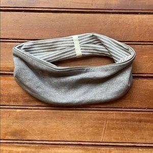 Lululemon Reversible Grey Striped Headband
